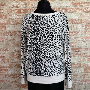 Chaser Snow Leopard Print Sweatshirt Long Sleeve